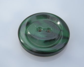 Large Green Celluloid Vintage Button