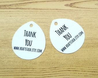 Personalized Tags - Thank You Tags - Branding Tags - Product Tag - Shop Tag - Kraft Tag - Custom Tags - Jewelry Tag - Gift Tag BT8