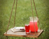 Hanging Table - Side Table - Scandinavian - Suspended table - Hammock Table - Outdoor Table - End Table