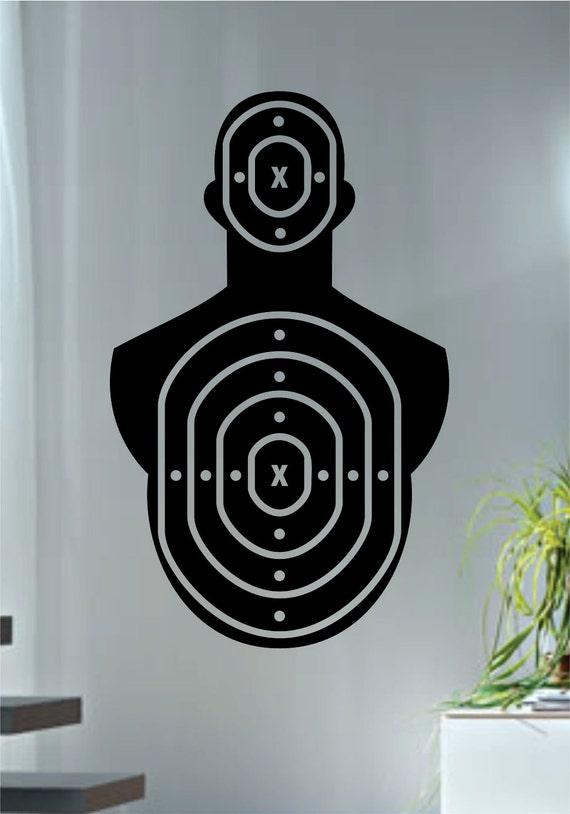 target version 2 shooting range decal sticker wall vinyl gun. Black Bedroom Furniture Sets. Home Design Ideas