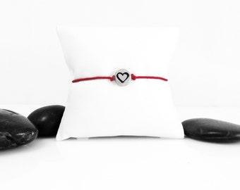Silver Heart, Dainty Bracelet, Heart, Heart Bracelet, Silver Bracelet, Friendship Bracelet, Love Bracelet, Tiny Heart Bracelet, b247cA