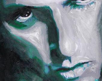 Set of 2 Peter Steele hand painted prints!