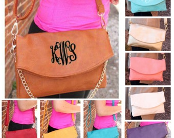 Monogrammed Purse - Loren Crossbody Clutch