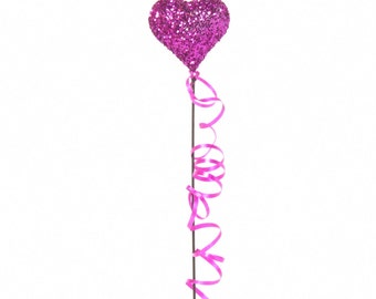 Colorful Shimmering Miniature Heart Balloon for your Dollhouse