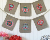 Christmas Baubles - set of seven charts - modern cross stitch pattern PDF - Instant download