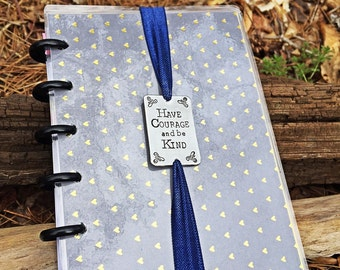 Planner band, planner accessories, book mark, book plate, planner plate, handstamped bookmark, personalized planner bookmark, Cinderella