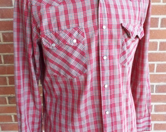 Vintage Long Sleeve Western Snap Shirt by Stage II
