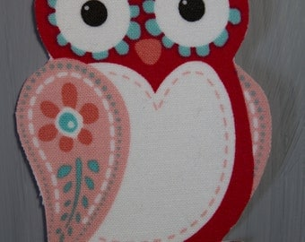 Owl Iron on Fabric Transfer Applique - 9674
