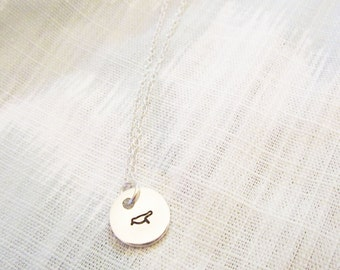 Stamped Bird Necklace, Bracelet, or Keychain - Bridesmaid Gift Ideas - Custom Symbol