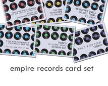 empire records card set | empire records cards | empire records quotes | vinyl record cards | music cards for friends | funny music cards