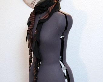 Scarf, Rüschenschal, cloth, scarf, steampunk, Gothic, fantasy, cosplay, neck jewels, scarf
