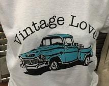 Vintage Love  Rustic Truck Unisex Soft cotton t-shirt Antique Lover Vintage Lover T-shirt Gift