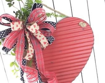 Valentine Wreath,Rustic Heart Door Swag, Valentine Door Hanger,Valentine Wreath,Heart Wreath, Door Heart, Valentine Heart Wreath