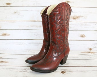 Vintage // Cowgirl Rain Boots - 1970s Andrew Geller Cowgirl Rain Boots