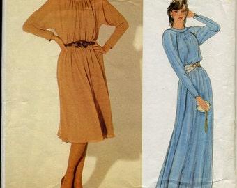 Jerry Silverman Vintage Vogue Pattern dress 1970's size 8-10-12 #1106