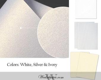Shimmer Cardstock Packs, DIY Wedding Cards, DIY Signs, Scrapbook Paper - Precut Sizes - 4x6, 5x7, 8x10
