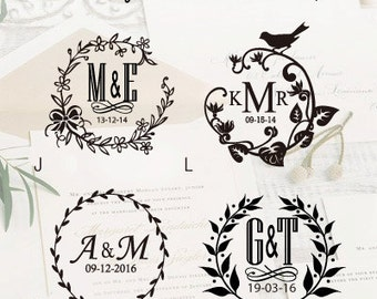 Design Your Own Wedding Embosser Stamp / Custom Embosser Seal for Personalized / Wedding Seal