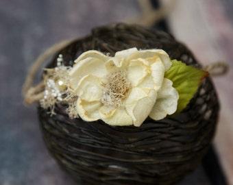 Cream Flower Halo, Photo Prop