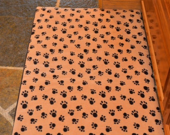 """Large 36 x 24"""" Fleece Waterproof Washable Kennel Crate Pad Cover Dog Bed; (Large; fits 36 x 24"""")"""