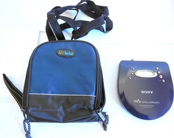 Sony Walkman D-EJ721 Portable CD Player with G-Protection & Case - WORKING