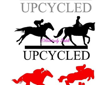 OTTB decal, thoroughbred decal, UPCYCLED, dressage, eventing, jumper, hunter