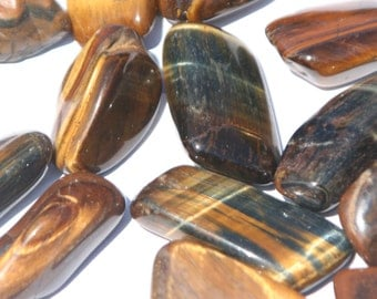 Tiger Eye, tumbled - Blessed