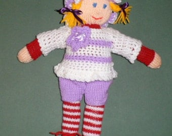 LUCY LINDA the knitted doll.