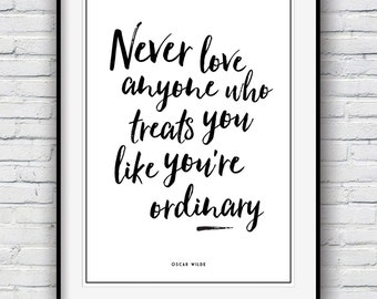 Oscar Wilde quote, Quote prints, Inspirational quote, Motivational poster,  Wall Decor, Minimalist print