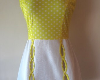 1960s Yellow Mini Dress