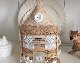 Shabby Stuffed Fabric House