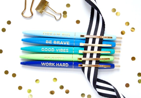 Motivational message pens