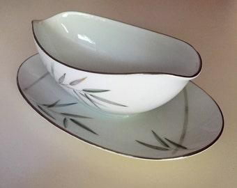 Noritake Bambina Gravy Boat, Vintage Noritake China, Noritake Bamboo Design Gravy Dish, Noritake Bambina 5791