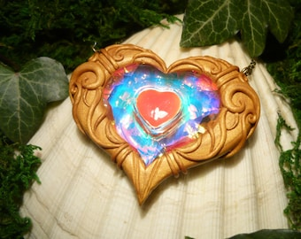 Heartcontainer- Zelda: The Twilight Princess - Heart Heartpiece handmade Pendant
