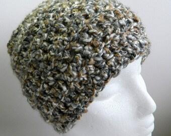 Gray Beanie Gray Crocheted Beanie Gray Beanie Hat Grey Beanie Grey Crocheted Beanie Grey Beanie Hat