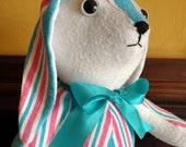 Personalized Stuffed Animal - Swaddle Blanket Teddy Bear - Baby Gift - Receiving Blanket Bear - Gift for Mom - Nursery Decor - Handmade Bear