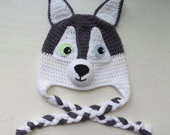 Crochet dog hat.Police Firefitergirl dog hat.