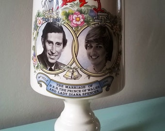 Unusual Commemorative Prince Charles and Lady Diana Royal Wedding Chalice