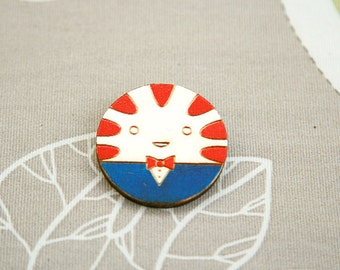 Wooden Brooch Badge Peppermint butler Adventure time