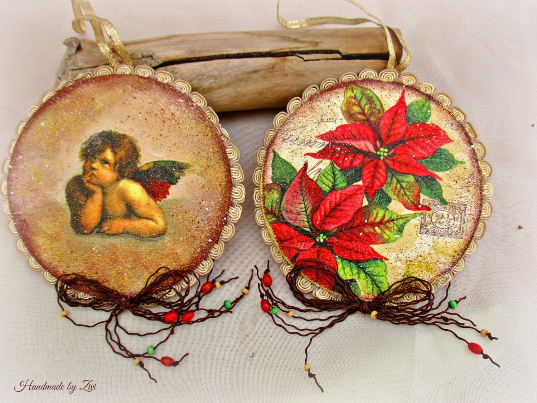 Adornos arbol navidad decoupage vintage decoraci n navidad - Decoracion navidad vintage ...