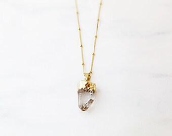 Crystal Quartz Long necklace - Matinee necklace // Long Fashion Necklace