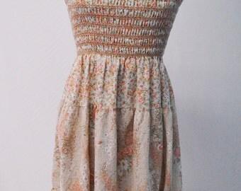 Vintage 1970s Floral Summer Dress