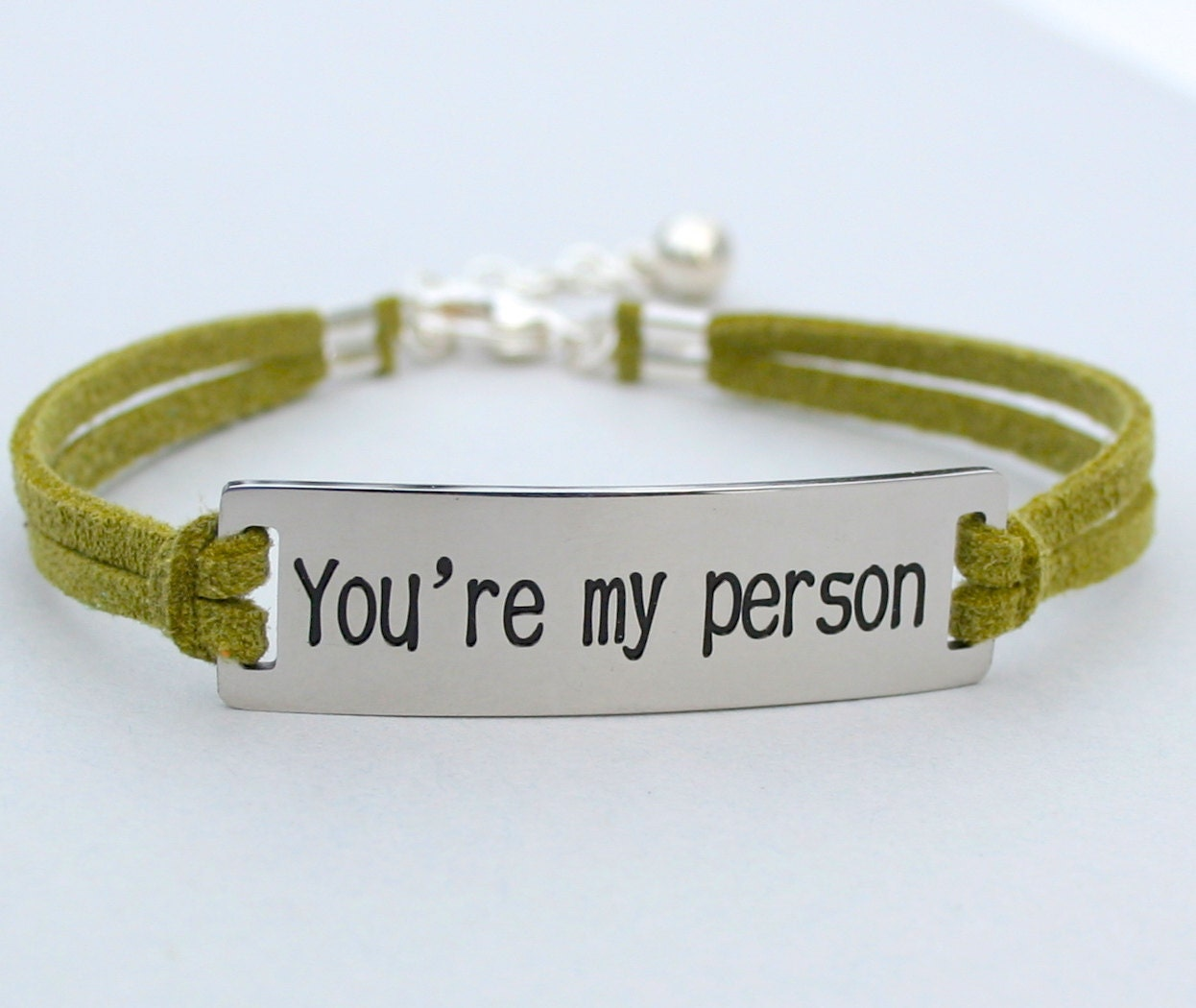 stainless steel you re my person bracelet