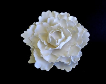 XL Gumpaste Flower Fondant Peony, Edible Flower, Sugar Flower for Cake Decor, Elegant Wedding Cake Topper, Edible Fondant Cake Flower Topper