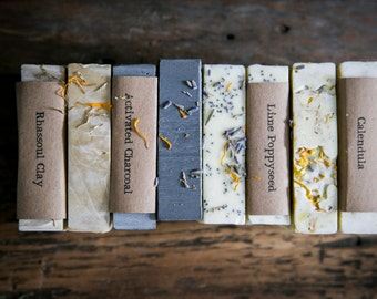 CHOOSE ANY 3 BARS. All Natural Soap. Maine Made soap. Plant Based Soap.