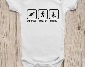 Basketball baby etsy basketball onesies brand bodysuits baby bodysuit crawl walk dunk basketball baby toddler t shirt negle Choice Image