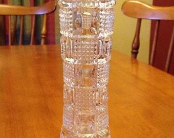 Beautiful Leaded Rose Bud Crystal Vase