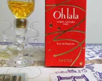 Azzaro Oh La La eau de parfum EDP. Figural mini bottle in box, 3 ml / 0.1 oz