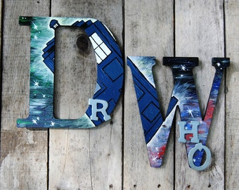 Dr Who Wall Letters