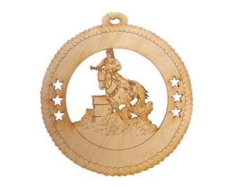 Horse Ornament, Female Barrel Racing - Barrel Racing Gift - Barrel Racing Gifts - Horse Decor - Equestrian Decor - Personalized Free