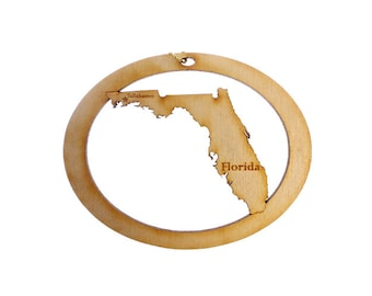Florida Ornament - Florida State Ornament - Florida Gift - Florida Christmas Ornament - Florida Decor - Florida Gifts - Personalized Free